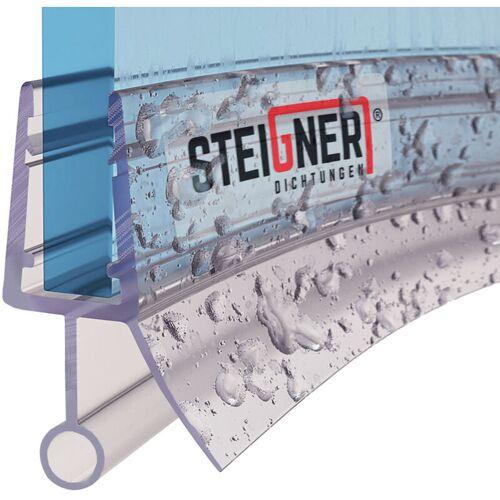 STEIGNER Duschdichtung, 140cm, Glasstärke 3,5/ 4/ 5 mm, Vorgebogene PVC