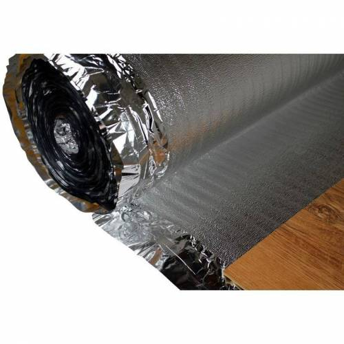 HEXIM Trittschalldämmung - Dampfsperre   für Holzböden, Fußbodenheizung