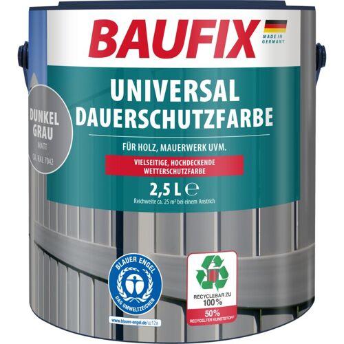 BAUFIX Universal-Dauerschutzfarbe matt dunkelgrau 2,5 L - Baufix