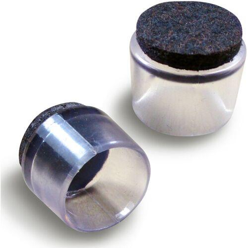 Ajile - 22 mm Durchm. Durchsichtige Fusskappen mit antikratz
