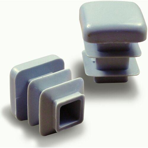 AJILE Kunststoff Lamellenstopfen Vierkantrohrstopfen Stopfen für 60 x 60 mm
