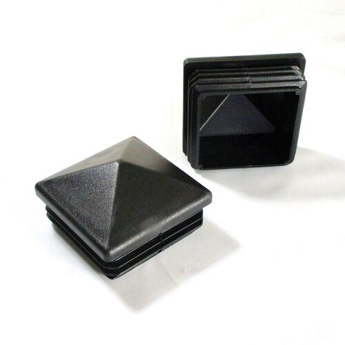Ajile - Kunststoff Sichtstopfen SCHWARZ für Quadratrohr 70 x 70 mm