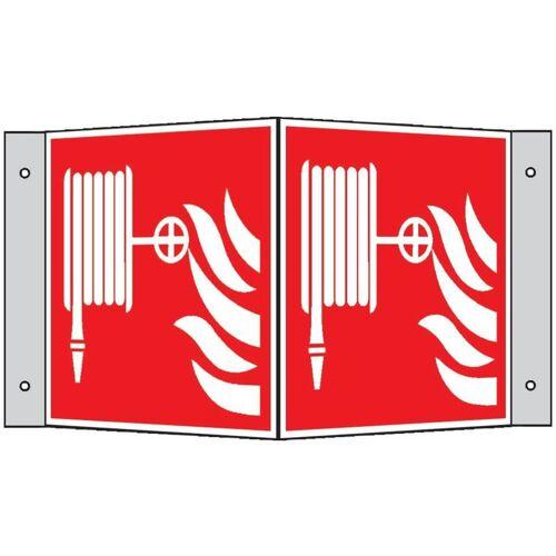 WOLK Brandschutzschild Alu Löschschlauch Winkelschild 200 x 200 mm - Wolk