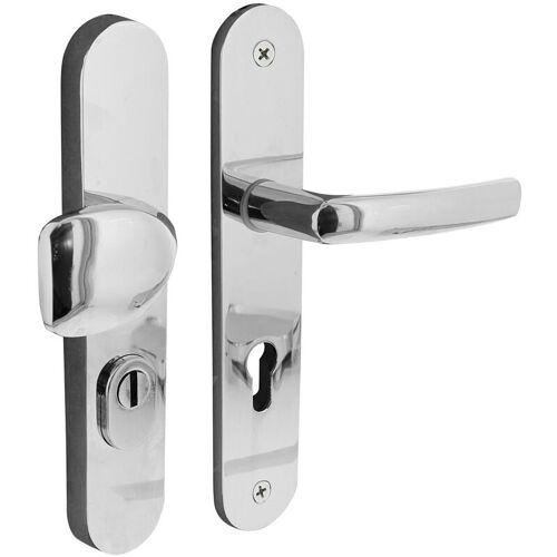 MS BESCHLÄGE Sicherheitsbeschlag Schutzbeschlag PZ-Lochung Knopf-Drücker Türbeschlag