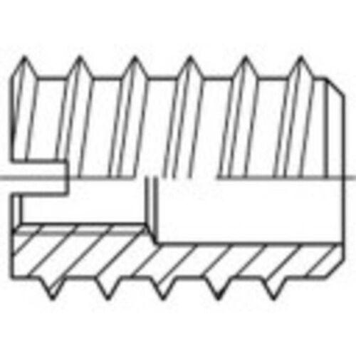TOOLCRAFT 144020 Einschraubmutter M4 8mm Stahl 100St. Q11757 - Toolcraft