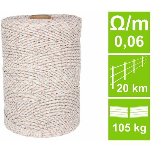 AVERDE Weidezaunlitze HQ, weiß/orange, 0,06 Ohm/m, 1000 m