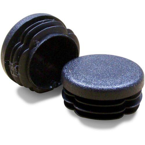 Ajile - Lamellenstopfen Rundrohrstopfen Durchmesser 45 mm Stopfen GRAU