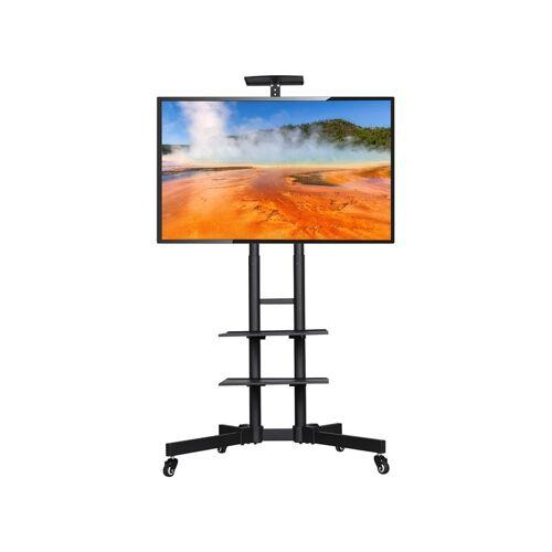 YAHEETECH Fernseher Standfuß Mobile TV Ständer Fernsehständer für 32 bis 65 Zoll