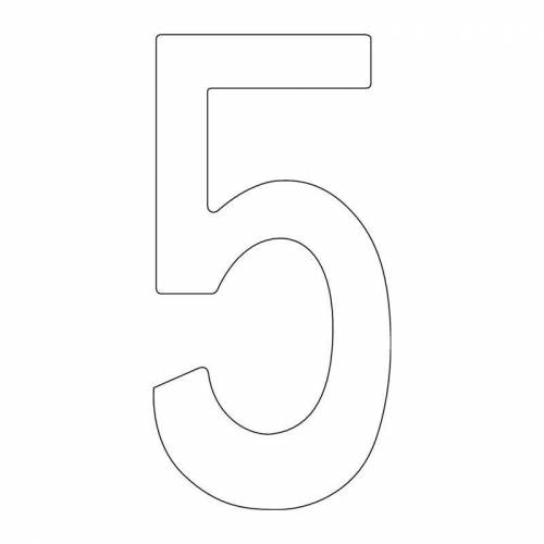 INTERSTEEL Hausnummer Hausnummer Ziffer 5 Edelstahl schwarz 150 mm