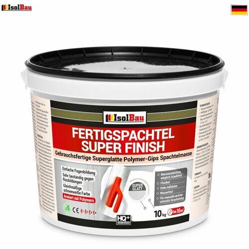 ISOLBAU Spachtel Masse 10 kg Fertigspachtel Super Finish Q4 Gips Glätt Flächen