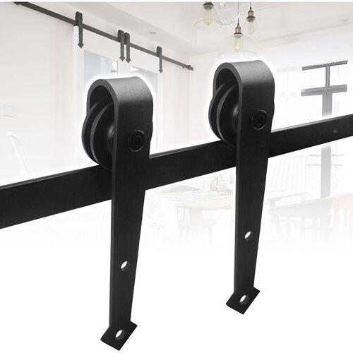 WOLKETON Schiebetürbeschlag set 6.6FT/200cm Schiebetürsystem Schiebetür