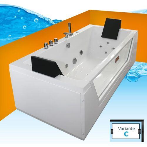 TRENDBAD24 GMBH & CO. KG AcquaVapore Whirlpool Pool Badewanne Wanne A1813NC mit