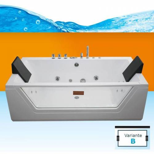 TRENDBAD24 GMBH & CO. KG AcquaVapore Whirlpool Pool Badewanne Wanne A1813RB mit