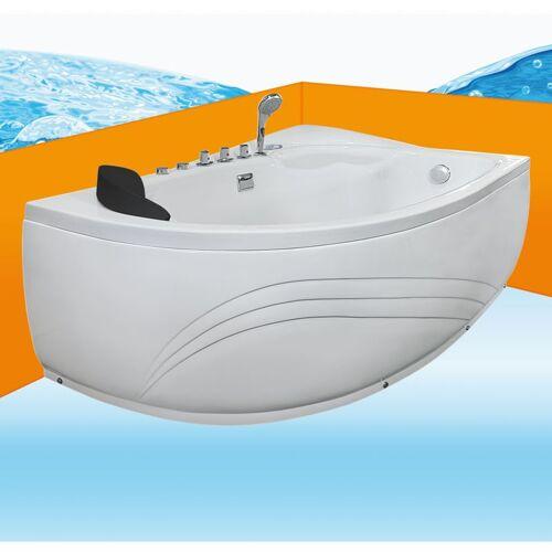 TRENDBAD24 GMBH & CO. KG Eckwanne Whirlpool Raumsparwunder Pool Badewanne A617-B-ALL 160x100