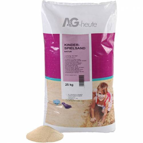 MIN2C A&G-heute Min2C 25kg Spielsand Quarzsand für Kinder Sandkasten Dekosand