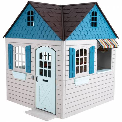Lifetime Kinderspielhaus Flipper Gartenhaus Spielgerät lichtgrau/blau
