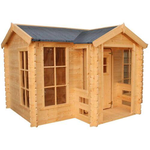 OUTDOOR TOYS Kinderspielhaus aus Holz Outdoor Toys Mika 241x175,5x135 cm mit Veranda