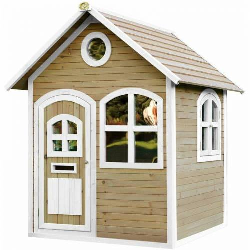 AXI Spielhaus Julia, Holz, Gartenhaus braun/weiß - AXI