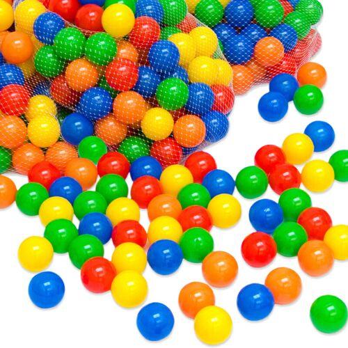 LITTLETOM 1000 bunte Bälle für Bällebad 5,5cm Babybälle Plastikbälle Baby