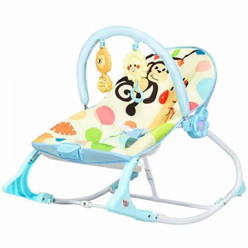 COSTWAY 3 in 1 Babywippe & Babyschaukel & Babyliegestuhl, Baby Schaukelwippe