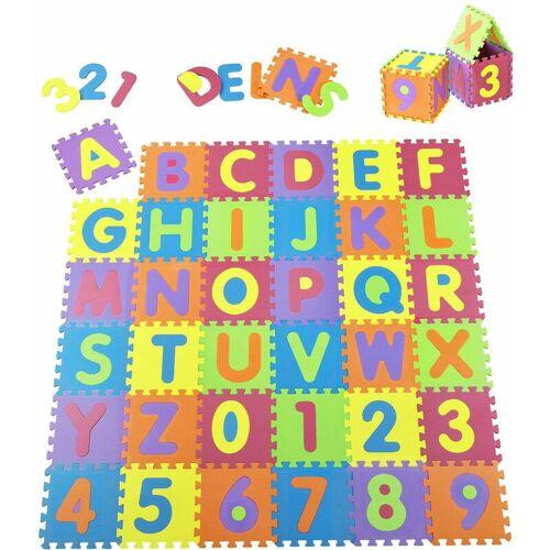 JUSKYS Kinder Puzzlematte Kim – bunt für Kleinkind – 36 Teile mit Buchstaben