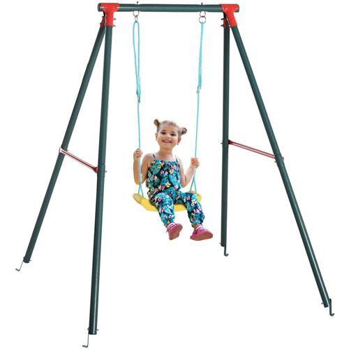 Outsunny ® Kinderschaukel Garten Gartenschaukel Schaukelgestell Metallgestell