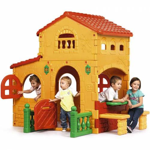 FEBER Plastikspielhaus für Kinder Grande Villa Feber