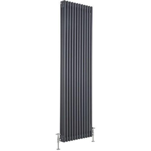 HUDSON REED Heizkörper Regent - Vertikaler Röhrenheizkörper aus Stahl - 1800 x 560