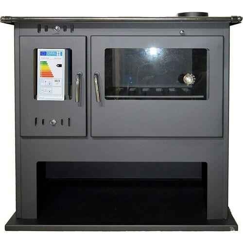 V05 Holzofen mit Backofen Eco Design BlmSchV-2 Festbrennstoffkocher 10 kW