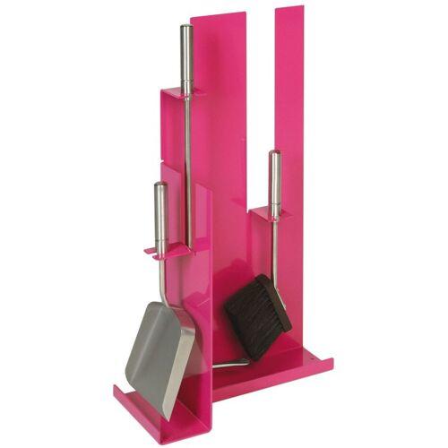 Lienbacher - Kaminbesteck Modell 910 - pink beschichtet mit Besteck &