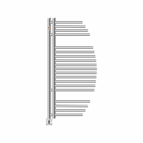 MERT-RADIATOR Elektro Badheizkörper Design AYCAN Weiss Chrom Elektrisch Heizung Bad