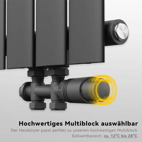 SONNI Heizkörper Multiblock Anschlussgarnitur Hahnblock Ventil Thermotstat