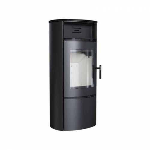 Kratki Kaminofen FALCON W 10 kW Holzofen Ofen Stahl-Schwarz Kamin Ja Ja