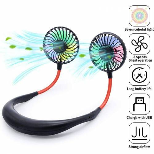 BARES Portable Portable Portable Fan - USB Neck Fan with Battery for Charging