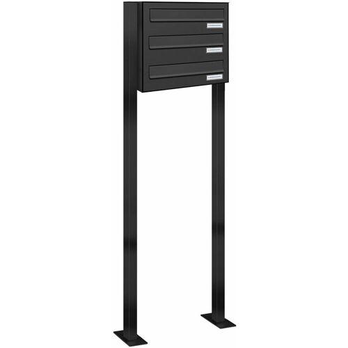 Al Briefkastensysteme - 3er Standbriefkasten Freistehend
