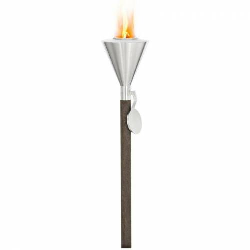 BLOMUS Gartenfackel Orchos für Brenngel, Fackel für Garten und Terrasse, mit