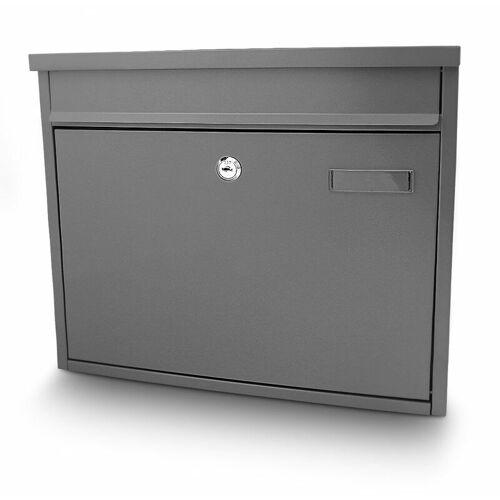 BITUXX Briefkasten Grau Post Briefkasten Wandbriefkasten Hausbriefkasten