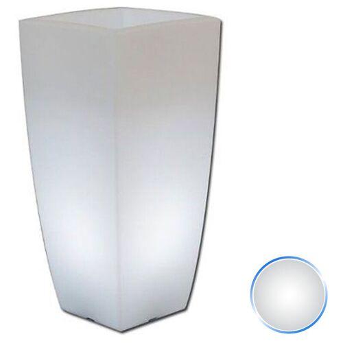 IDRALITE Harz-Blumentopf mod. Agave Eckig mit Weiß Lampe 33x33 CM H70