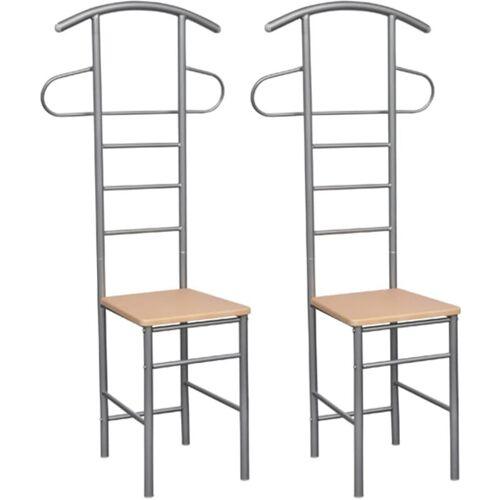 Vidaxl - Herrendiener Stühle 2 Stk. Metall