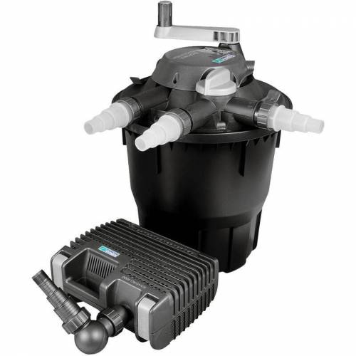 Wiltec - Hozelock Bioforce Druckteichfilter Set für Teiche bis 12000l,