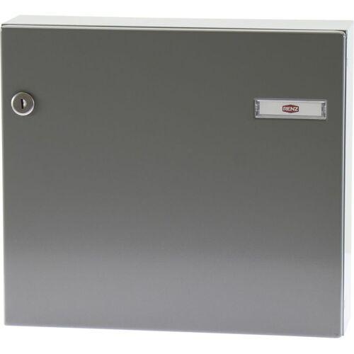 RENZ Tür-Durchwurfbriefkasten SERIE 17, 370 x 330 x 100 mm, Stahl RAL 9007