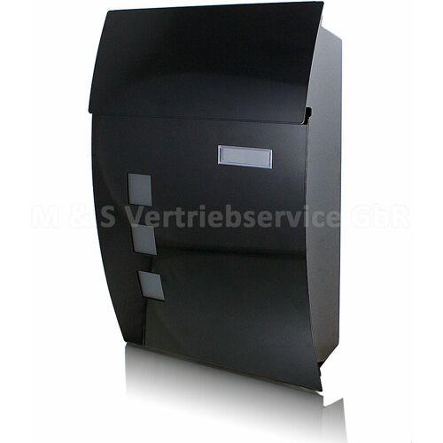 BITUXX Wandbriefkasten Briefkasten Schwarz Postbriefkasten Postkasten