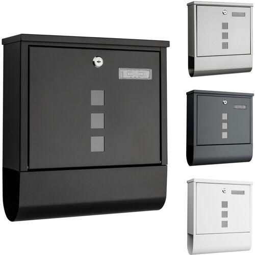 1PLUS Briefkasten, in diversen Variationen:mit Namensschild, schwarz