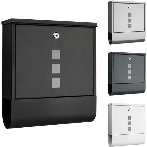 1PLUS Briefkasten, in diversen Variationen:ohne Namensschild, schwarz