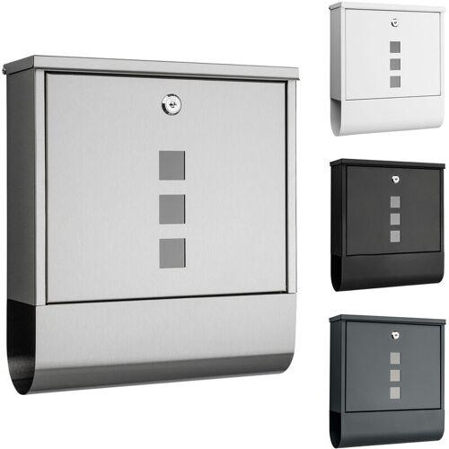 1PLUS Briefkasten, in diversen Variationen:ohne Namensschild, Edelstahl