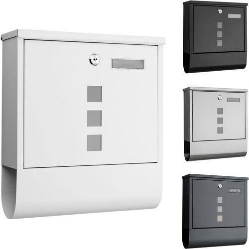 1PLUS Briefkasten, in diversen Variationen:mit Namensschild, weiss