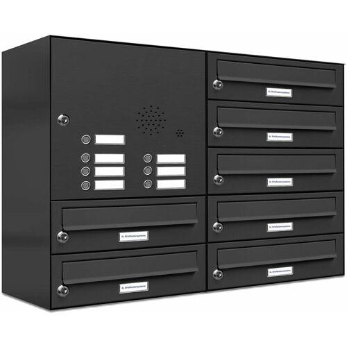 Al Briefkastensysteme - 7er Briefkasten Anlage Aufputz - Wandmontage