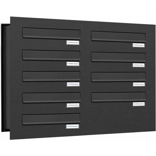 Al Briefkastensysteme - 9er Briefkastenanlage für Mauerdurchwurf RAL