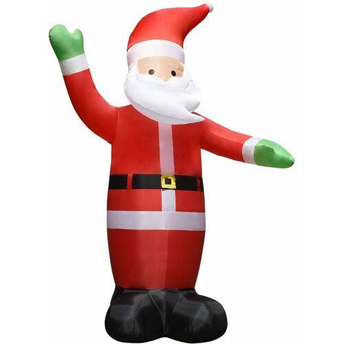 VIDAXL Aufblasbarer Weihnachtsmann mit LEDs Weihnachtsdeko IP44 4,5 m