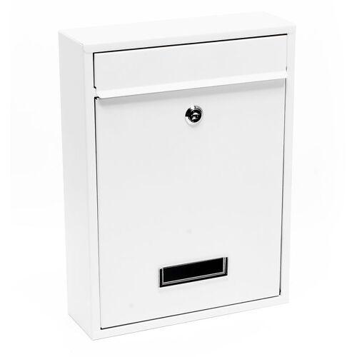 Wiltec - Briefkasten Wandbriefkasten Briefkastenanlage Weiß